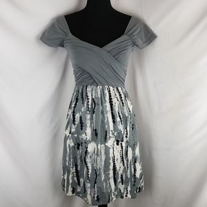 Gray Wrap Front Dress by Converse One Star Size XS